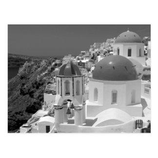 B&W Santorini 2 Postcard