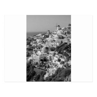 B&W Santorini 5 Tarjetas Postales