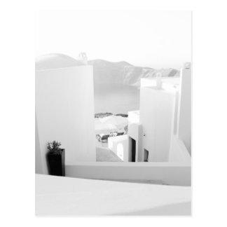 B&W Santorini 7 Tarjetas Postales