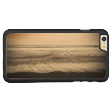 USA Themed B&W seascape, Hawaii Carved Maple iPhone 6 Plus Slim Case