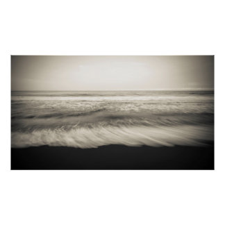 B&W seascape, Hawaii Poster