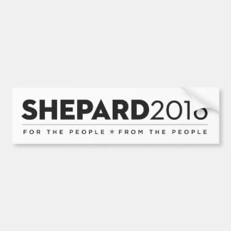 B/W SHEPARD2016 Bumpersticker Bumper Sticker