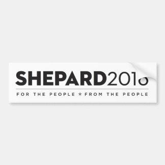 B/W SHEPARD2016 Bumpersticker Pegatina Para Coche