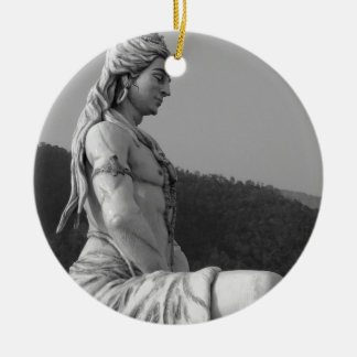 B&W Shiva Ceramic Ornament