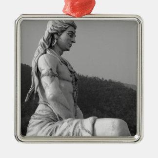 B&W Shiva Metal Ornament