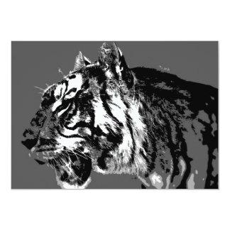 B&W Siberian Tiger Invitation