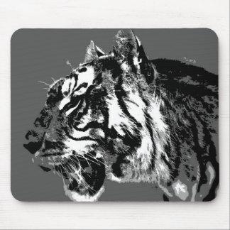 B&W Siberian Tiger Mouse Pad