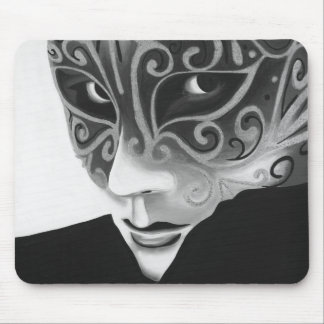 B/W Silver Flair Mousepad