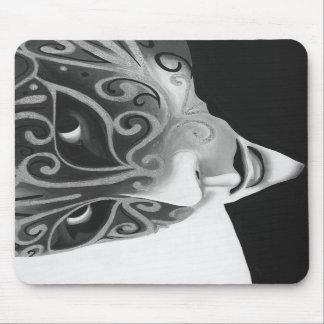 B W Silver Flair Mousepad