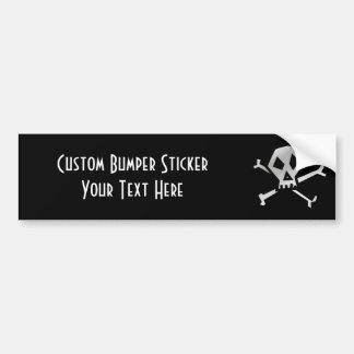 B&W Skull & Crossbones 1 Bumper Sticker