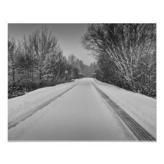 B/W snowy trail Photograph