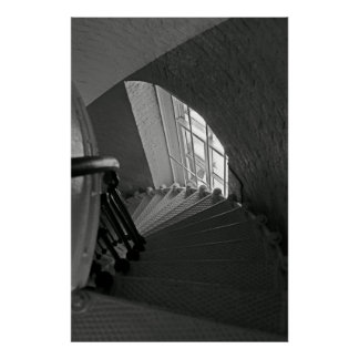 B&W Stairs Poster