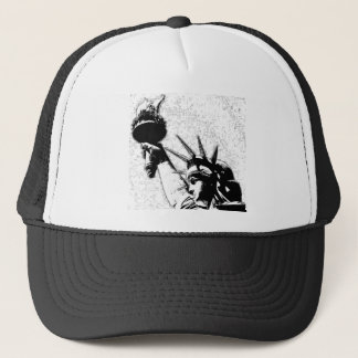 B&W Statue of Liberty Trucker Hat