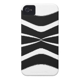 B & W Stripes-  Pinched.gif iPhone 4 Case