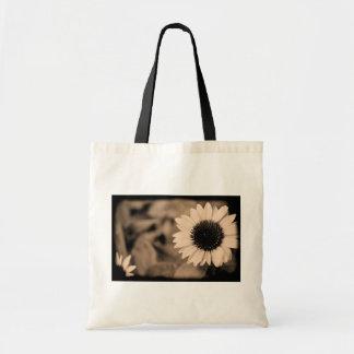 B&W Sunflower Tote