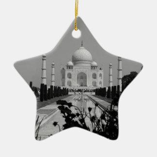 B&W Taj Mahal 2 Ceramic Ornament