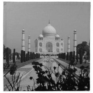 B&W Taj Mahal 2 Napkin