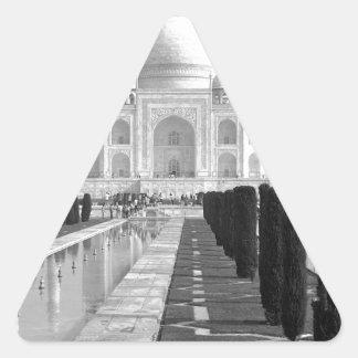 B&W Taj Mahal 3 Triangle Sticker