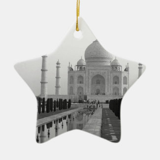 B&W Taj Mahal 4 Ceramic Ornament