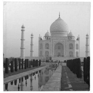 B&W Taj Mahal 4 Cloth Napkin