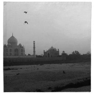 B&W Taj Mahal 5 Napkin
