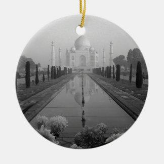 B&W Taj Mahal Ceramic Ornament
