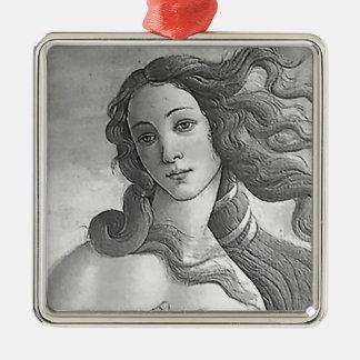B&W The Birth of Venus Metal Ornament