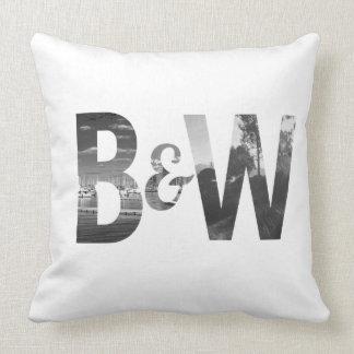B&W THROW PILLOW