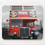 B/W Tinted Red London Bus Mousepad
