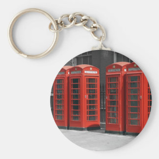 B/W Tinted Red London Telephone Boxes Keychain