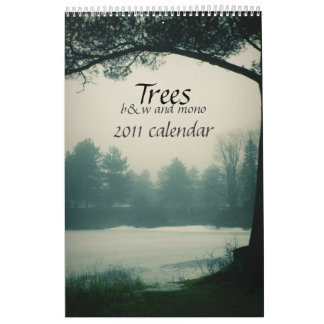 b&w Trees 2011 calendar