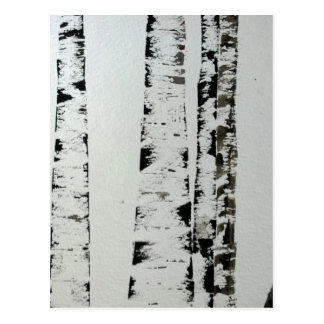 B&W Trees Postcard