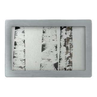 B&W Trees Rectangular Belt Buckle