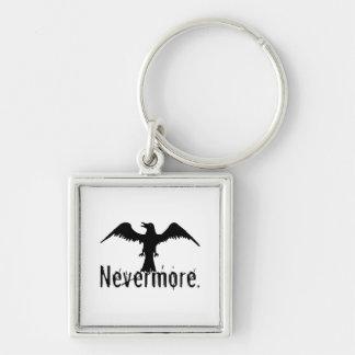 B W Tribal Raven Nevermore Keychain