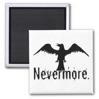 B&W Tribal Raven Nevermore Magnet
