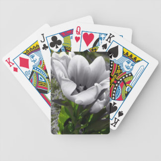B&W Tulip Bicycle Playing Cards