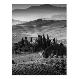 B&W Tuscany Postcard