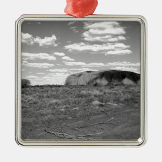 B&W Uluru 2 Metal Ornament