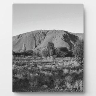 B&W Uluru 3 Photo Plaque