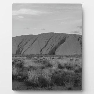 B&W Uluru Photo Plaques