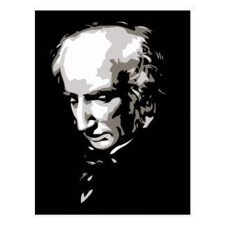 B & W Vector silhouette art William Wordsworth Post Cards