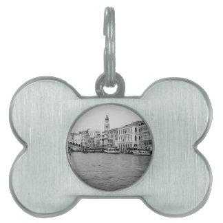 B&W Venecia 4 Placa De Nombre De Mascota