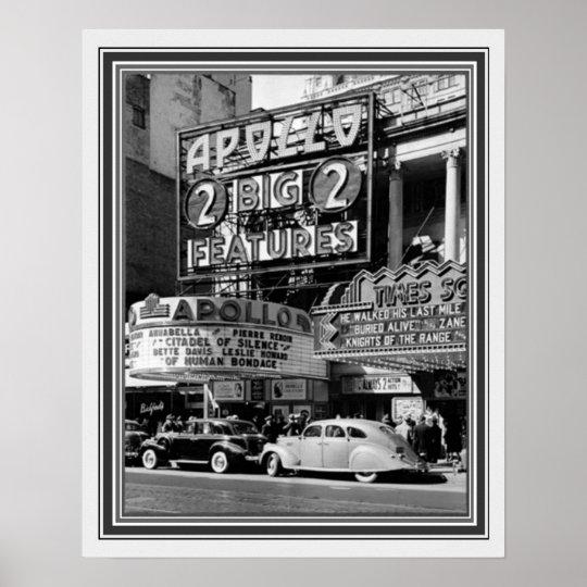 B&W Vintage Photo Of The Apollo Theater 16 X 20 Poster