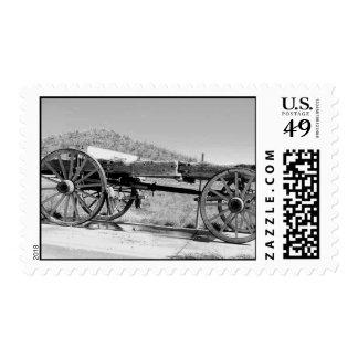 B&W Wagon Postage Stamp