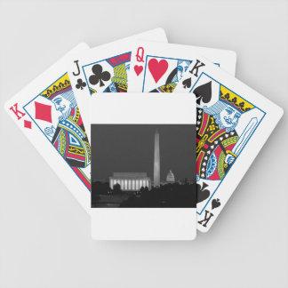 B&W Washington DC 3 Bicycle Playing Cards