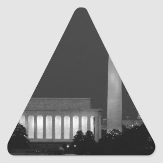 B&W Washington DC 3 Triangle Sticker