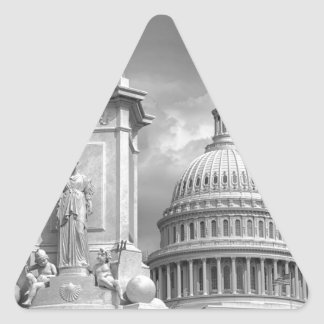 B&W Washington DC Triangle Sticker