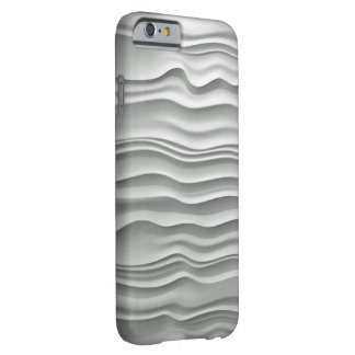 B&W Wavy Abstract Barely There iPhone 6 Case