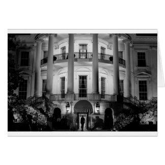 B&W White House 2 Card