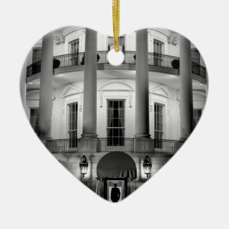 B&W White House 2 Ceramic Ornament